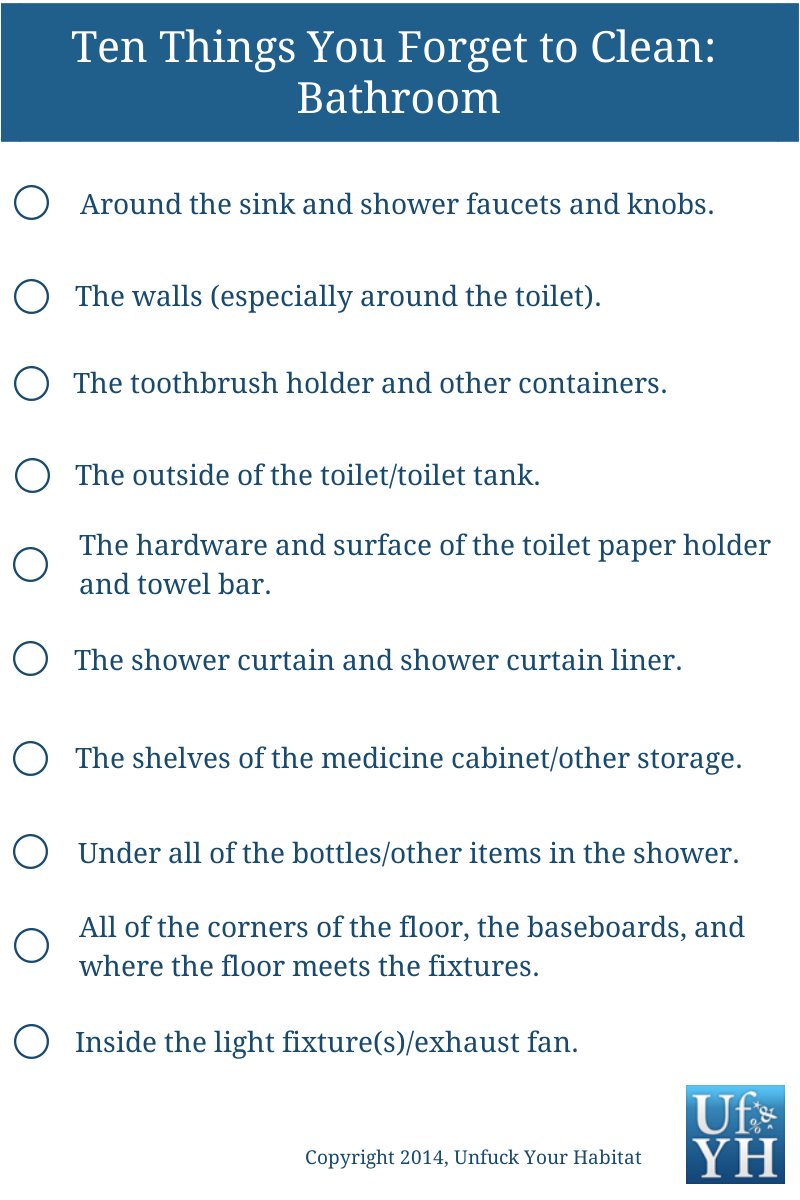 Cleaning Checklists – Cleaning Checklist