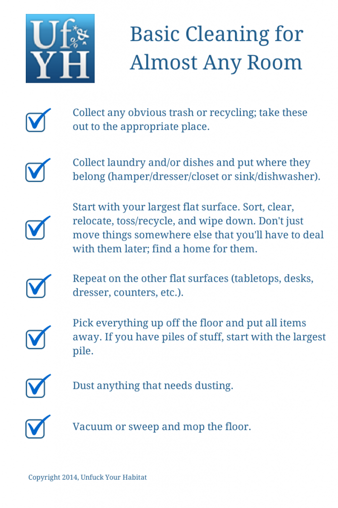 Basic Cleaning for Almost Any Room