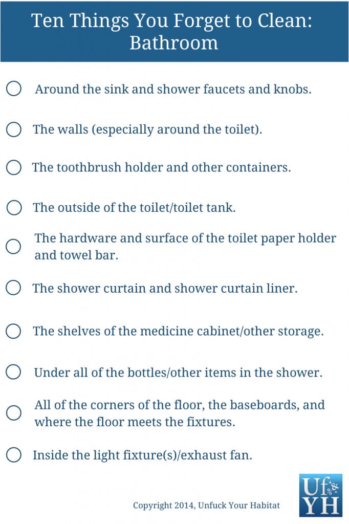 Ten Things- Bathroom